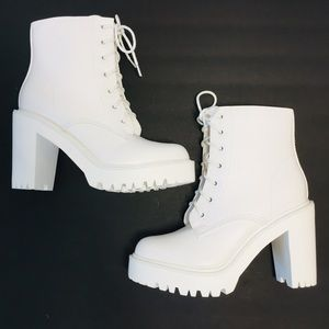 Madden Girl Chunky Platform Moto Combat Boots